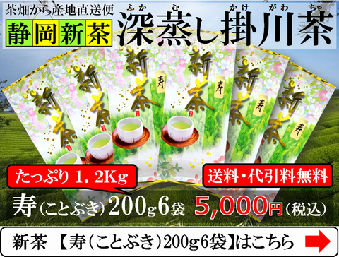 新茶の寿200g6袋セット